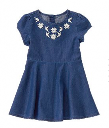 crazy8 blue jeans colour dress  Baby Girl